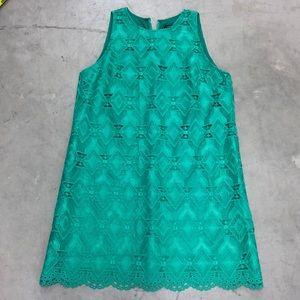 Tahari Green Lace Dress